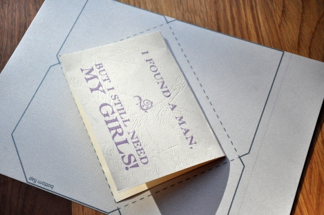 Bridesmaid card envelope