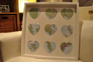 Map heart frame