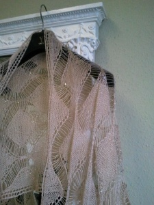 Ballybeg knitted lace shawl