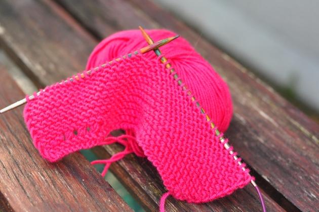 Knitting swatch