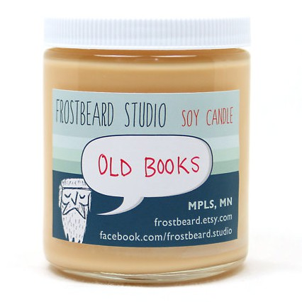 Frostbeard Old Books Scented Soy Candle